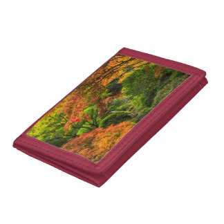 Japanese Gardens In Autumn In Portland, Oregon 2 Tri-fold Wallet