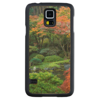 Japanese Gardens In Autumn In Portland, Oregon 3 Carved Maple Galaxy S5 Slim Case
