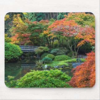 Japanese Gardens In Autumn In Portland, Oregon 3 Mouse Pad