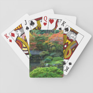 Japanese Gardens In Autumn In Portland, Oregon 3 Playing Cards