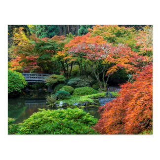 Japanese Gardens In Autumn In Portland, Oregon 3 Postcard