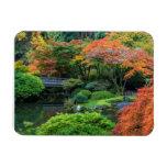 Japanese Gardens In Autumn In Portland, Oregon 3 Rectangular Photo Magnet