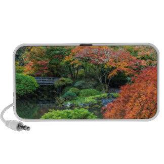 Japanese Gardens In Autumn In Portland, Oregon 3 Portable Speaker