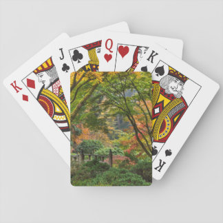 Japanese Gardens In Autumn In Portland, Oregon 4 Playing Cards