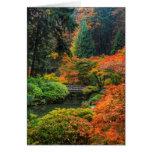 Japanese Gardens In Autumn In Portland, Oregon 5 Card