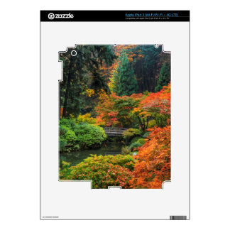 Japanese Gardens In Autumn In Portland, Oregon 5 iPad 3 Decal
