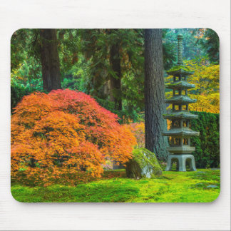 Japanese Gardens In Autumn In Portland, Oregon Mouse Pad