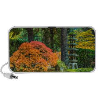 Japanese Gardens In Autumn In Portland, Oregon Travelling Speaker