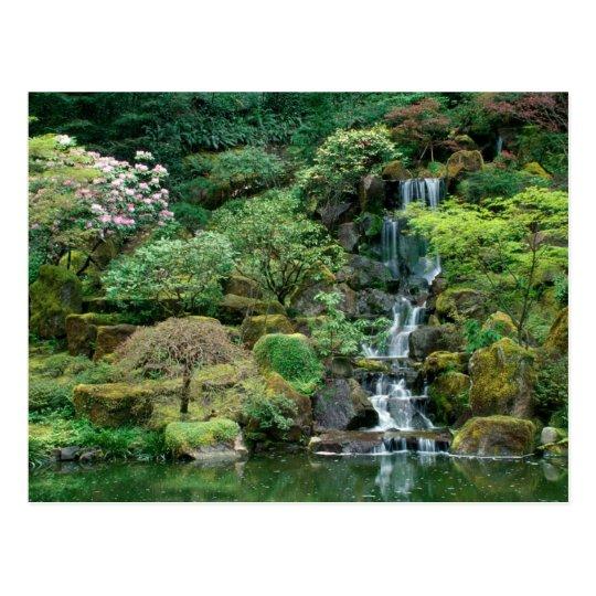 Japanese Gardens Portland, Oregon Postcard