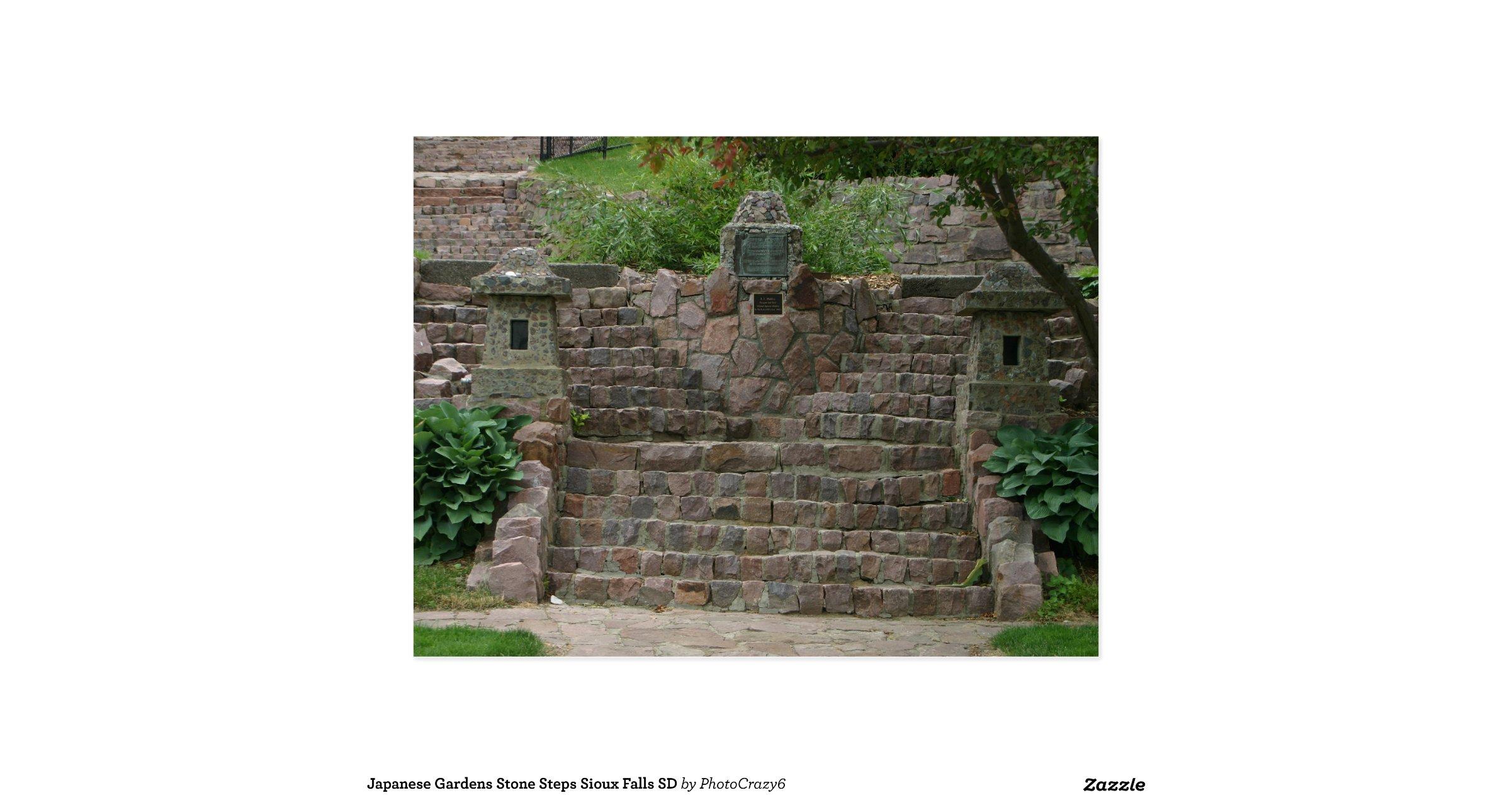 Japanese Gardens Stone Steps Sioux Falls Sd Postcard R027677b8f40b4e2297f96580ffc3bd8e Vgbaq
