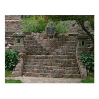 Japanese Gardens Stone Steps Sioux Falls SD Postcard