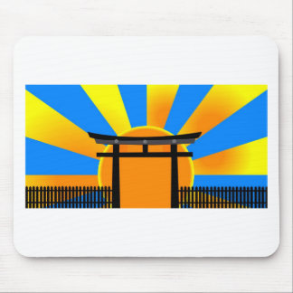 Japanese gate mouse pad