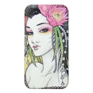 Japanese Geisha 8 Asian Kimono Anime Cover For iPhone 4