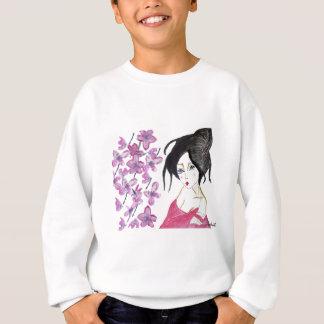 Japanese geisha animation drawing t-shirt gift