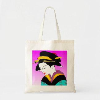 Japanese Geisha Budget Tote Bag