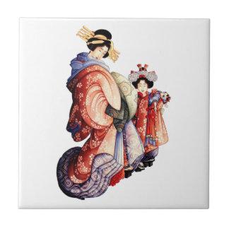 Japanese Geisha Ceramic Tile