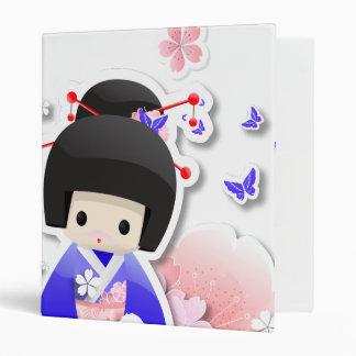 Japanese Geisha Doll - Blue Series Binder