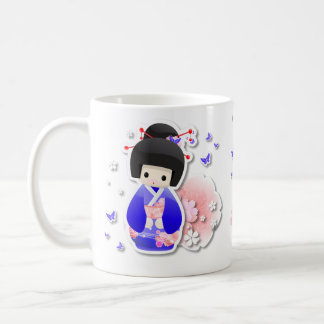 Japanese Geisha Doll - Blue Series Mug