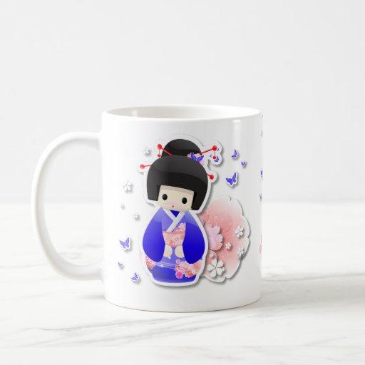 Japanese Geisha Doll - Blue Series Mug