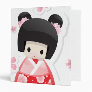 Japanese Geisha Doll - buns series Binder