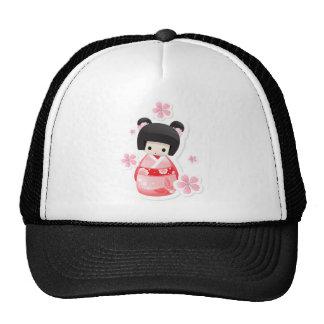 Japanese Geisha Doll - buns series Hats
