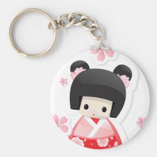 Japanese Geisha Doll - buns series Key Chains