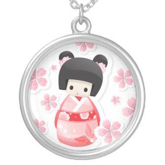 Japanese Geisha Doll - buns series Necklace