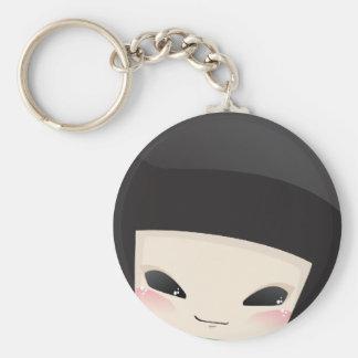 Japanese Geisha Doll - face keychain