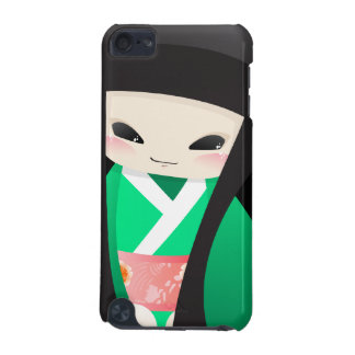 Japanese Geisha Doll - green closeup iPod Case iPod Touch 5G Cover