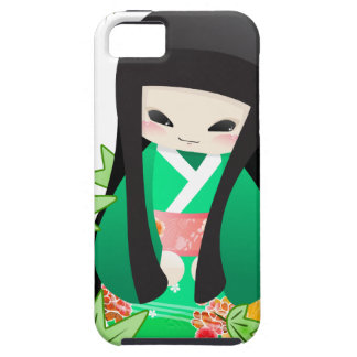 Japanese Geisha Doll - green series iPhone 5 Cases