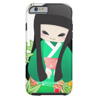 Japanese Geisha Doll - green series Tough iPhone 6 Case
