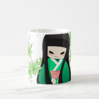 Japanese Geisha Doll - green series Coffee Mug