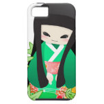 Japanese Geisha Doll - green series iPhone 5 Covers