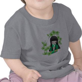 Japanese Geisha Doll - green series Shirt