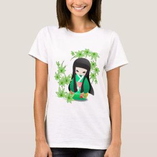 Japanese Geisha Doll - green series T-Shirt