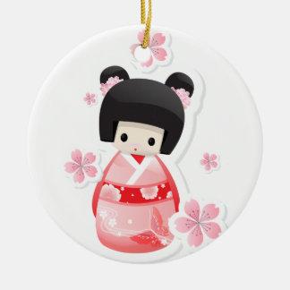 Japanese Geisha Doll Ornament