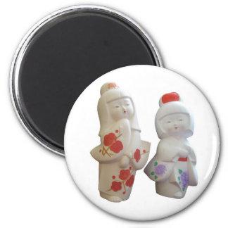Japanese Geisha Dolls Magnet