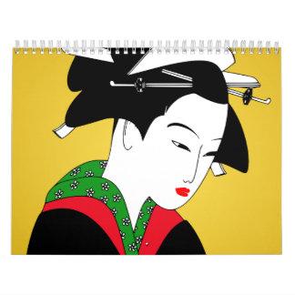 Japanese Geisha Girl Calendar