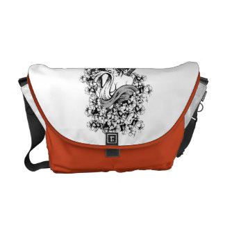 Japanese Geisha Girl Messenger Bag