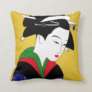 Japanese Geisha Girl Pillow