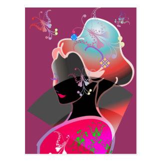 Japanese GEISHA KIMONO GIRL Postcard