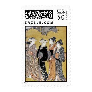 Japanese Geisha Ladies Stamp