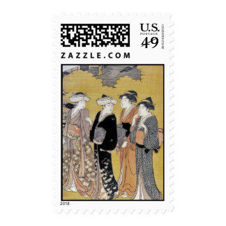 Japanese Geisha Ladies Stamp