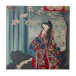 "Japanese Geisha Lady Japan Art Cool Classic Tile<br><div class=""desc"">Japanese Geisha Lady Japan Art Cool Classic Oriental China Chinese Asian Asia</div>"