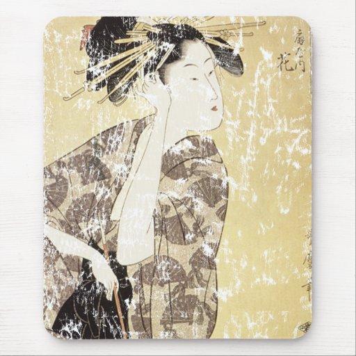 Japanese Geisha Mouse Pad
