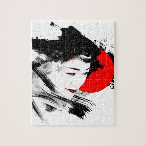 Japanese Geisha Jigsaw Puzzles