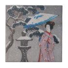 Japanese Geisha Tile