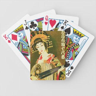 Japanese Geisha & Wasaga Paper Umbrella Art Bicycle Playing Cards