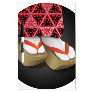 Japanese Geisha Wooden Shoes Dry-Erase Board