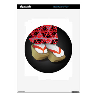 Japanese Geisha Wooden Shoes Skin For iPad 2